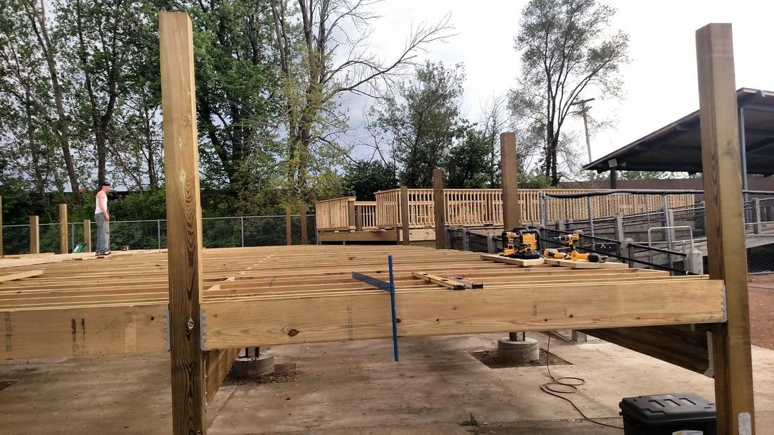 Kalamazoo Growlers Deck Construction