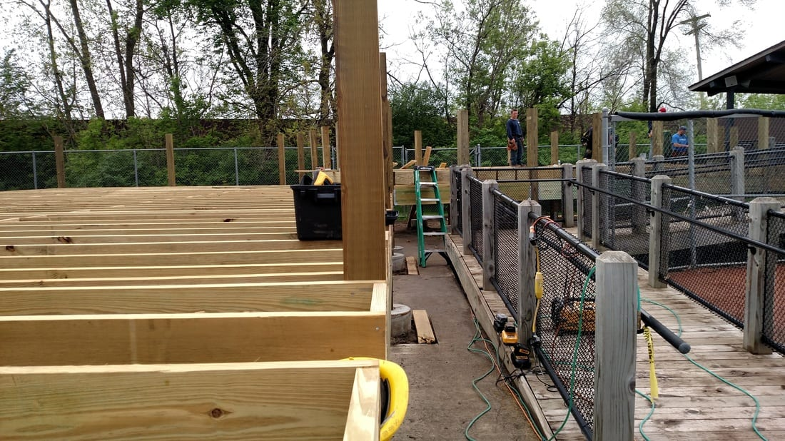 Kalamazoo Growlers Deck Construction