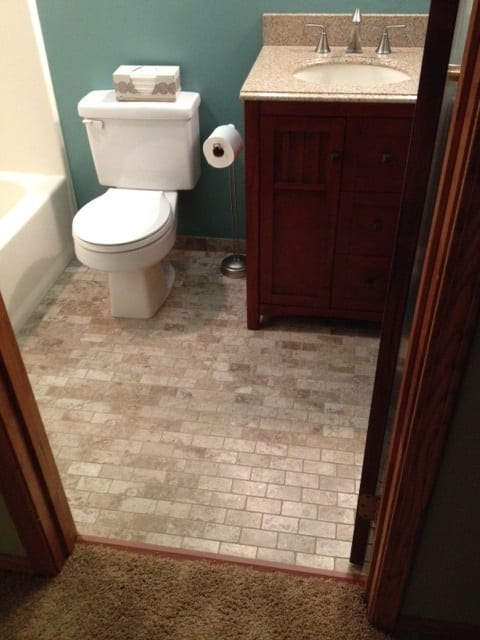 Bathroom Floor Renovation