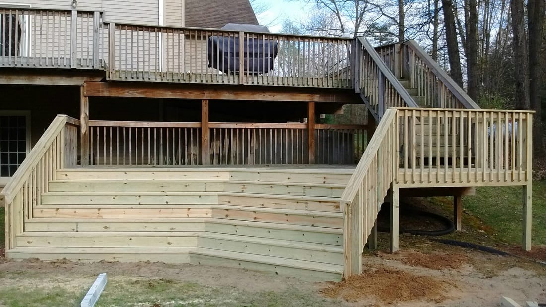 Finished Deck Construction Project