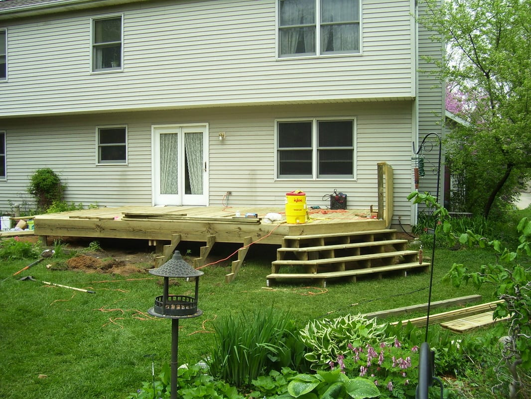 Custom Deck Construction Project