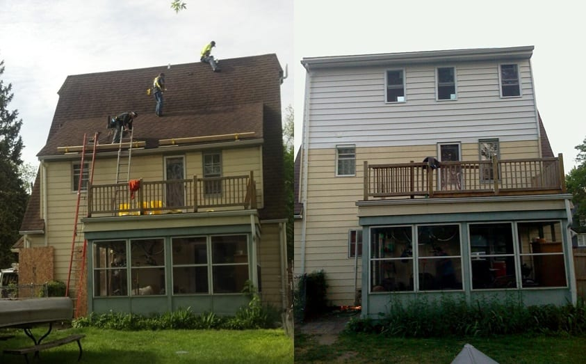 Before and After Siding and Roofing Project