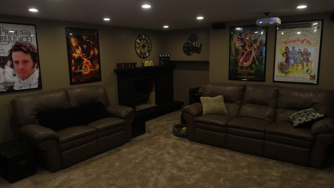 Basement Home Theater Renovation Project