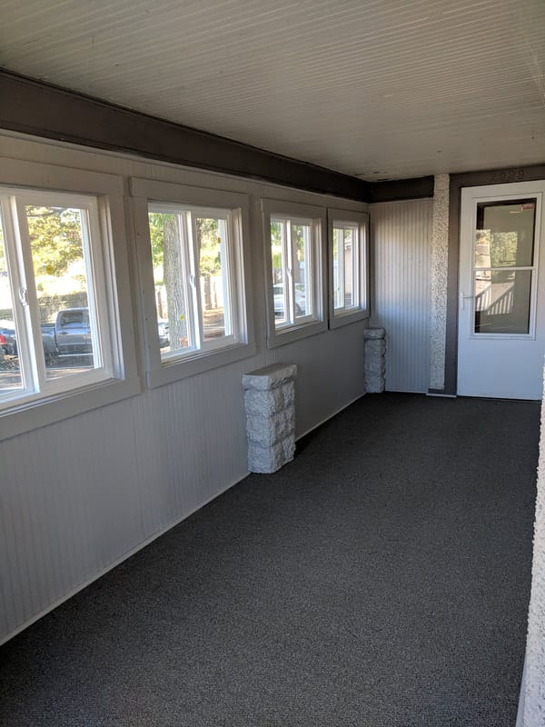 Office Porch Renovation Before and After