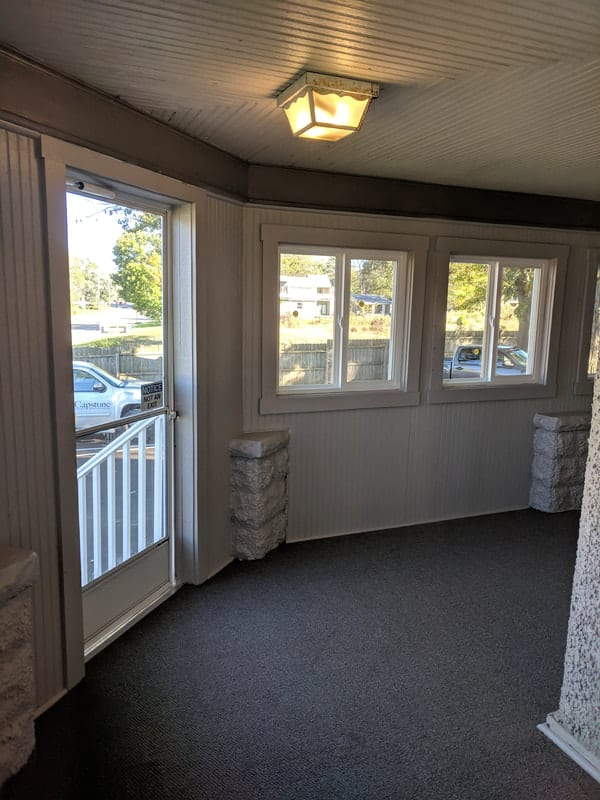 Porch Renovation Office Before and After